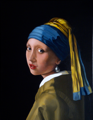 Sold - After Vermeer's Girl with a Pearl Earring (oil on canvas)