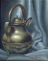 Still Life with Brass Jug (oil on canvas)